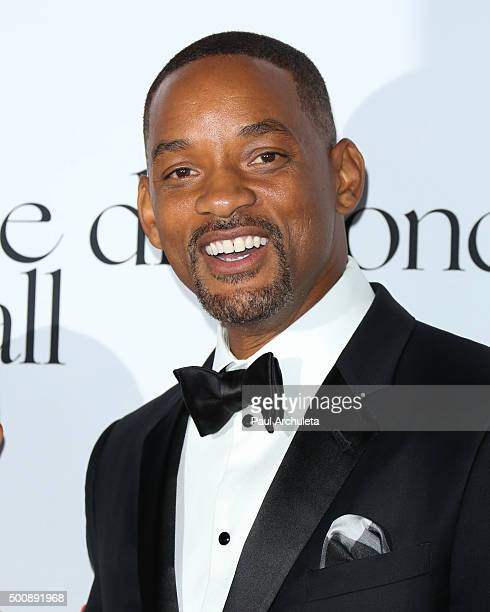 Actor Will Smith attends the 2nd Annual Diamond Ball at The Barker Hanger on December 10 2015 in Santa Monica California