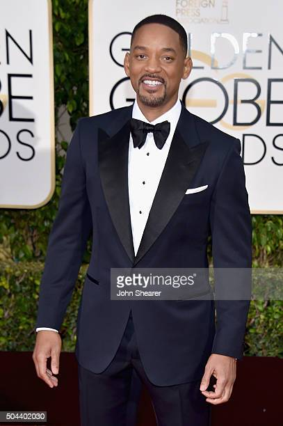 Actor Will Smith attends the 73rd Annual Golden Globe Awards held at the Beverly Hilton Hotel on January 10 2016 in Beverly Hills California