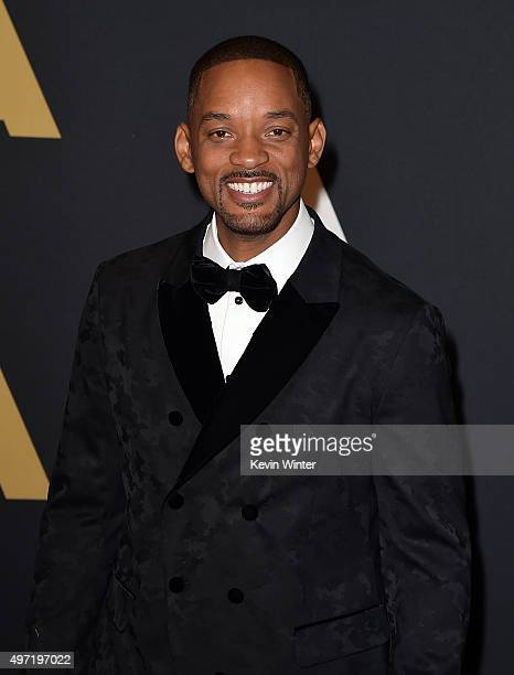 Actor Will Smith attends the Academy of Motion Picture Arts and Sciences' 7th annual Governors Awards at The Ray Dolby Ballroom at Hollywood Highland...