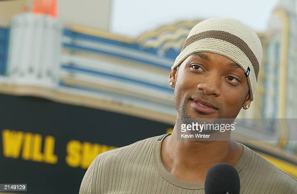 Actor Will Smith attends the 'Bad Boys II' movie premiere at the Mann's Village theatre on July 9 2003 in Westwood California