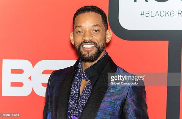Actor Will Smith attends the BET's 'Black Girls Rock' Red Carpet at NJ Performing Arts Center on March 28 2015 in Newark New Jersey