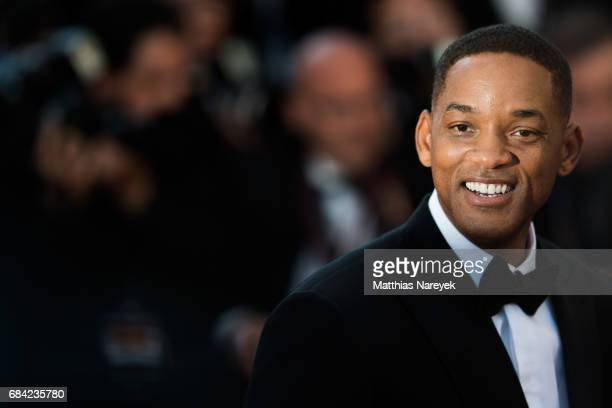 Actor Will Smith attends the 'Ismael's Ghosts ' screening and Opening Gala during the 70th annual Cannes Film Festival at Palais des Festivals on May...