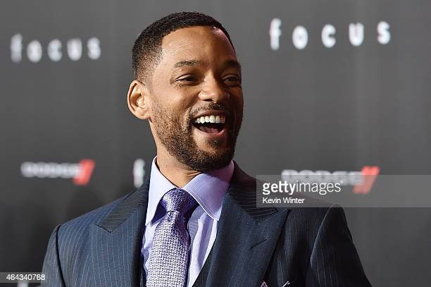 Actor Will Smith attends the premiere of Warner Bros Pictures' 'Focus' at TCL Chinese Theatre on February 24 2015 in Hollywood California
