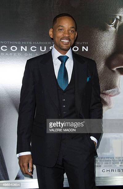 Actor Will Smith attends the Special Screening of 'Concussion' in Westwood California on November 23 2015 AFP PHOTO / VALERIE MACON / AFP / VALERIE...