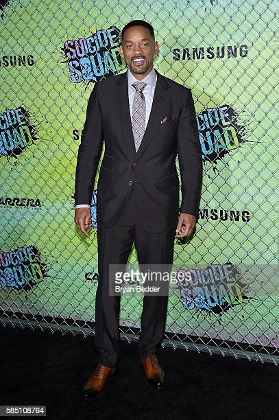 Actor Will Smith attends the Suicide Squad premiere sponsored by Carrera at Beacon Theatre on August 1 2016 in New York City