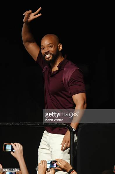 Actor Will Smith attends the Warner Bros 'Suicide Squad' presentation during ComicCon International 2015 at the San Diego Convention Center on July...