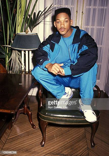 Actor Will Smith breaks from filming 'The Fresh Prince of BelAir' on October 20 1990 at Columbia/Sunset Gower Studios in Hollywood California