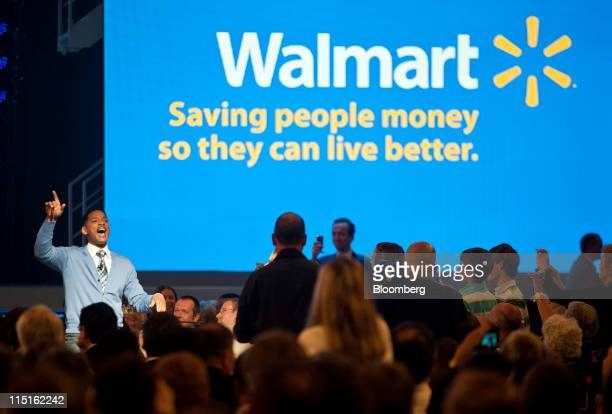Actor Will Smith emcees the WalMart annual shareholder meeting in Fayetteville Arkansas US on Friday June 3 2011 WalMart Stores Inc renewed plans to...