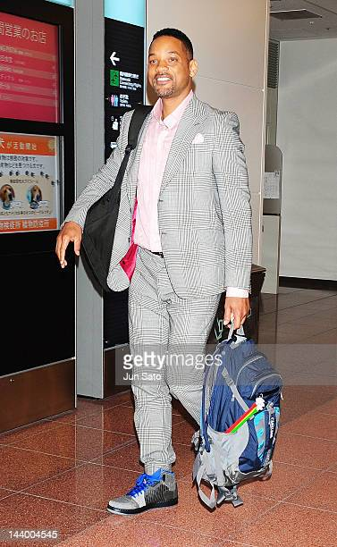 Actor Will Smith is seen upon arrival at Tokyo International Airport on May 8 2012 in Tokyo Japan