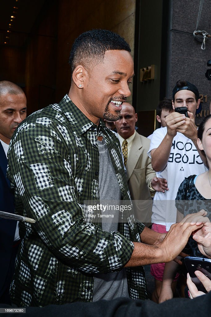 Actor <a gi-track='captionPersonalityLinkClicked' href=/galleries/search?phrase=Will+Smith+-+Actor+-+Born+1968&family=editorial&specificpeople=156403 ng-click='$event.stopPropagation()'>Will Smith</a> leaves the Sirius XM Studios on May 30, 2013 in New York City.