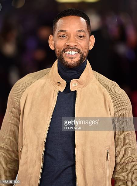 US actor Will Smith poses for photographers ahead of the Special Screening of 'Focus' in central London on February 11 2015 AFP PHOTO / LEON NEAL