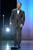Actor Will Smith presents the award for Outstanding Motion Picture onstage at the 46th Annual NAACP Image Awards on February 6 2015 in Pasadena...