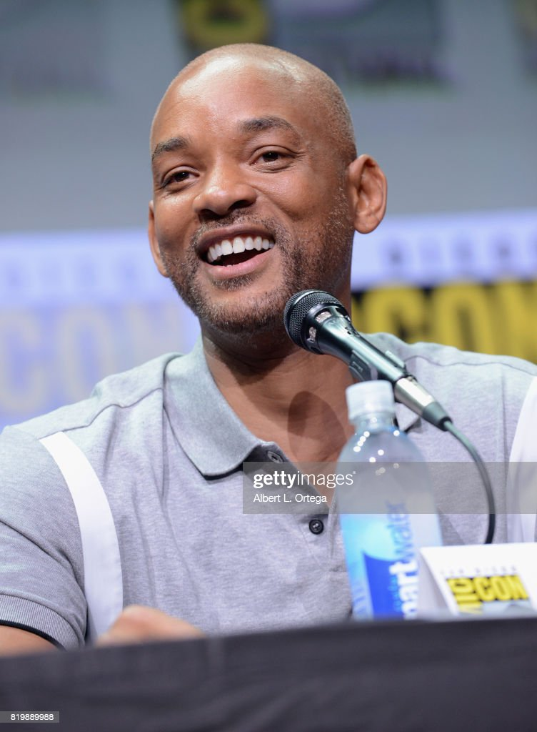 Actor Will Smith speaks onstage at Netflix Films: 'Bright' and 'Death Note' panel during Comic-Con International 2017 at San Diego Convention Center on July 20, 2017 in San Diego, California.
