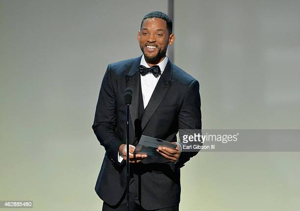 Actor Will Smith speaks onstage at the 46th Annual NAACP Image Awards on February 6 2015 in Pasadena California