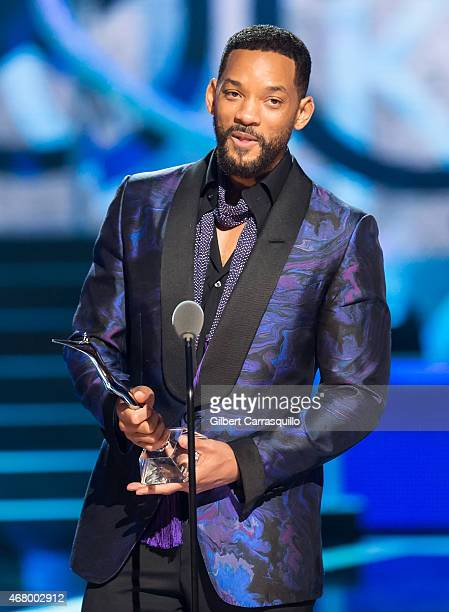 Actor Will Smith speaks onstage during 2015 'Black Girls Rock' BET Special at NJ Performing Arts Center on March 28 2015 in Newark New Jersey