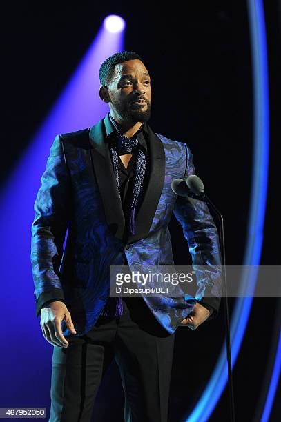 Actor Will Smith speaks onstage during the 'Black Girls Rock' BET Special at NJPAC – Prudential Hall on March 28 2015 in Newark New Jersey