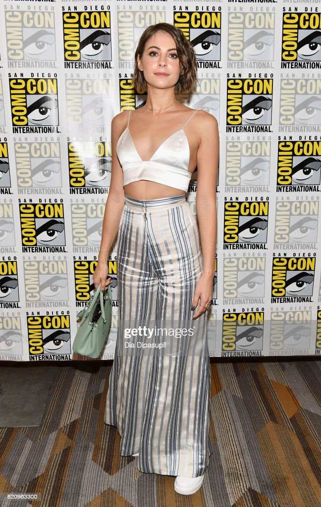 Actor Willa Holland at the 'Arrow' Press Line during Comic-Con International 2017 at Hilton Bayfront on July 22, 2017 in San Diego, California.