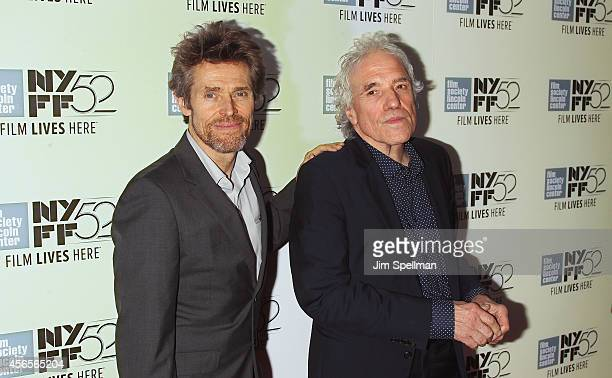 Actor Willem Dafoe and director Abel Ferrara attend the 'Heaven Knows What' Premiere during the 52nd New York Film Festival at Alice Tully Hall on...