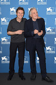 Actor Willem Dafoe and director Abel Ferrara attend the 'Pasolini' photocall during the 71st Venice Film Festival at Palazzo del Cinema on September...