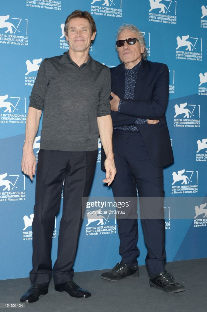 Actor <a gi-track='captionPersonalityLinkClicked' href=/galleries/search?phrase=Willem+Dafoe&family=editorial&specificpeople=203171 ng-click='$event.stopPropagation()'>Willem Dafoe</a> (L) and director <a gi-track='captionPersonalityLinkClicked' href=/galleries/search?phrase=Abel+Ferrara&family=editorial&specificpeople=586297 ng-click='$event.stopPropagation()'>Abel Ferrara</a> attend the 'Pasolini' photocall during the 71st Venice Film Festival at Palazzo del Cinema on September 4, 2014 in Venice, Italy.