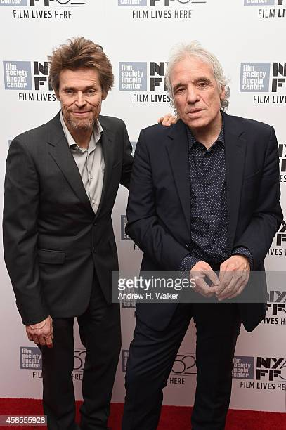 Actor Willem Dafoe and director Abel Ferrara attend the 'Pasolini' premiere during the 52nd New York Film Festival at Alice Tully Hall on October 2...