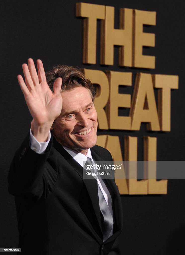 Actor Willem Dafoe arrives at the premiere of Universal Pictures' 'The Great Wall' at TCL Chinese Theatre IMAX on February 15, 2017 in Hollywood, California.
