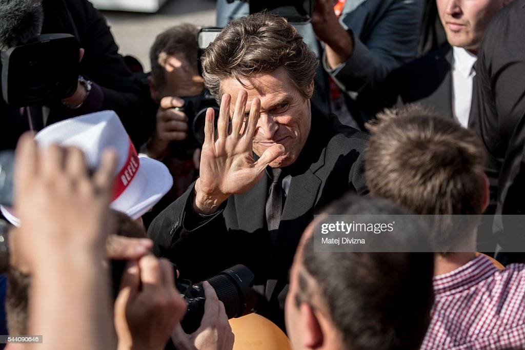 Actor Willem Dafoe meets with fans as he arrives at the opening ceremony of the 51st Karlovy Vary International Film Festival (KVIFF) on July 1, 2016 in Karlovy Vary, Czech Republic.