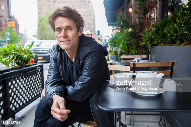 Actor Willem Dafoe photographed for NY Daily News on April 26 in New York City