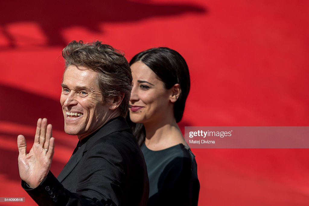 Actor Willem Dafoe with his wife Giada Colagrande arrives at the opening ceremony of the 51st Karlovy Vary International Film Festival (KVIFF) on July 1, 2016 in Karlovy Vary, Czech Republic.