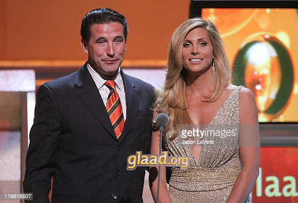 Actor William Baldwin and actress Candis Cayne on stage at the 19th Annual GLAAD Media Awards at the Kodak Theater on April 26 2008 in Hollywood...