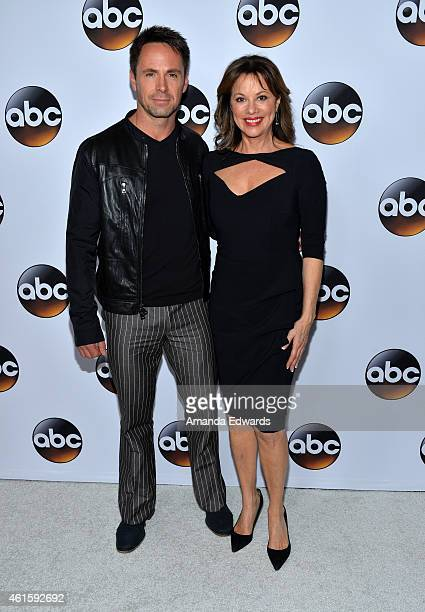 Actor William DeVry and actress Nancy Lee Grahn arrive at the ABC TCA 'Winter Press Tour 2015' Red Carpet on January 14 2015 in Pasadena California