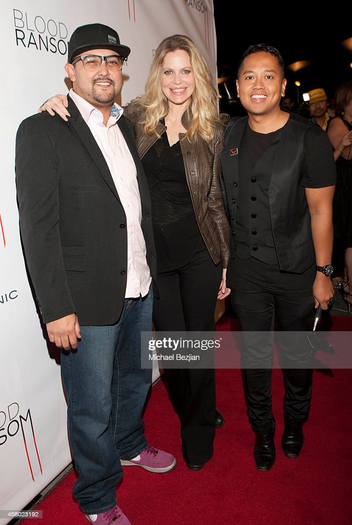 Actor William Echeverri, actress <a gi-track='captionPersonalityLinkClicked' href=/galleries/search?phrase=Kristin+Bauer&family=editorial&specificpeople=3164038 ng-click='$event.stopPropagation()'>Kristin Bauer</a> van Straten and publicist <a gi-track='captionPersonalityLinkClicked' href=/galleries/search?phrase=Rembrandt+Flores&family=editorial&specificpeople=693163 ng-click='$event.stopPropagation()'>Rembrandt Flores</a> attend the Los Angeles Premiere Of 'Blood Ransom' on October 28, 2014 in Los Angeles, California.