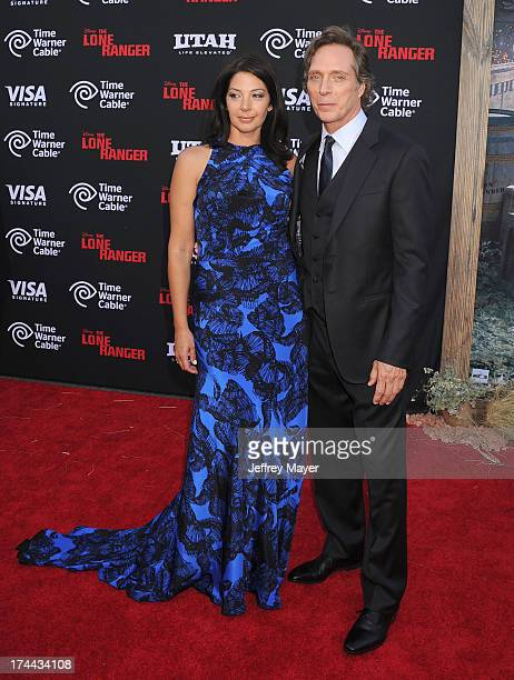 Actor William Fichtner and Kymberly Kalil arrive at 'The Lone Ranger' World Premiere at Disney's California Adventure on June 22 2013 in Anaheim...
