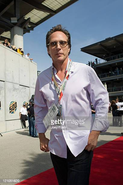Actor William Fichtner walks the red carpet before the start of the 92nd running of the Indianapolis 500 at the Indianapolis Motor Speedway on May 25...
