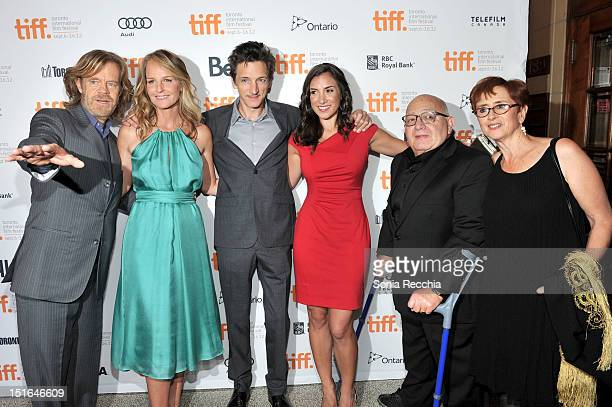Actor William H Macy Actress Helen Hunt Actor John Hawkes Actress Annika Marks Filmmaker Ben Lewin and Producer Judi Levine attends 'The Sessions'...