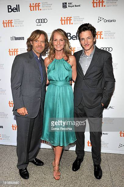 Actor William H Macy Actress Helen Hunt and Actor John Hawkes attend 'The Sessions' Premiere during the 2012 Toronto International Film Festival at...