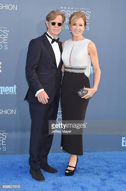 Actor William H Macy and actress Felicity Huffman arrive at The 22nd Annual Critics' Choice Awards at Barker Hangar on December 11 2016 in Santa...