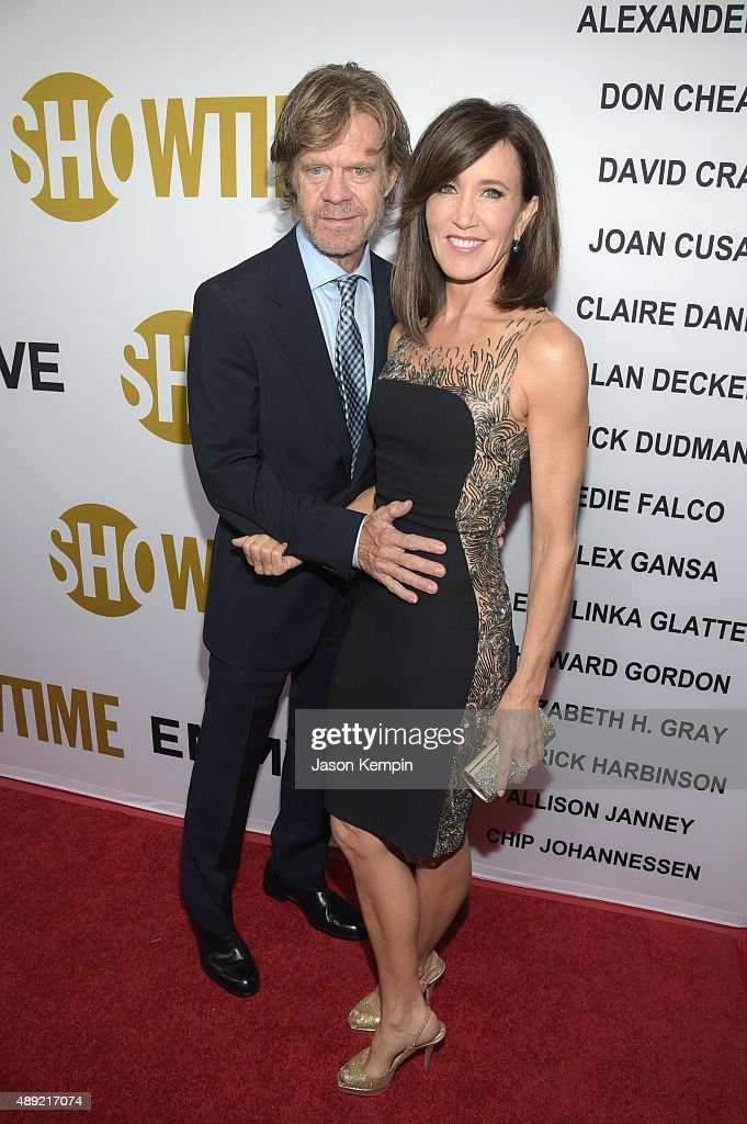 Actor William H Macy and actress Felicity Huffman attend Showtime's 2015 Emmy Eve Party at Sunset Tower Hotel on September 19 2015 in West Hollywood...