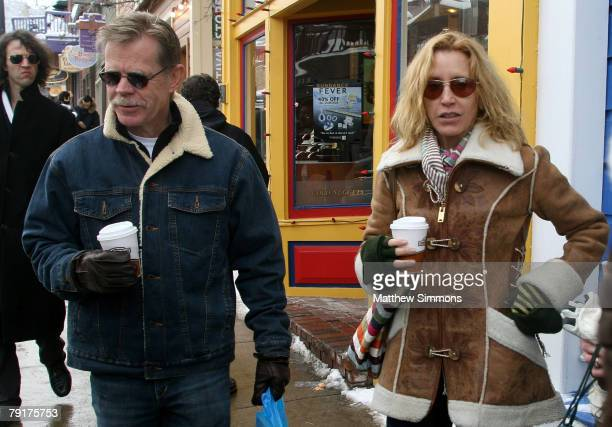 Actor William H Macy and Actress Felicity Huffman seen around town at the 2008 Sundance Film Festival on January 22 2008 in Park City Utah