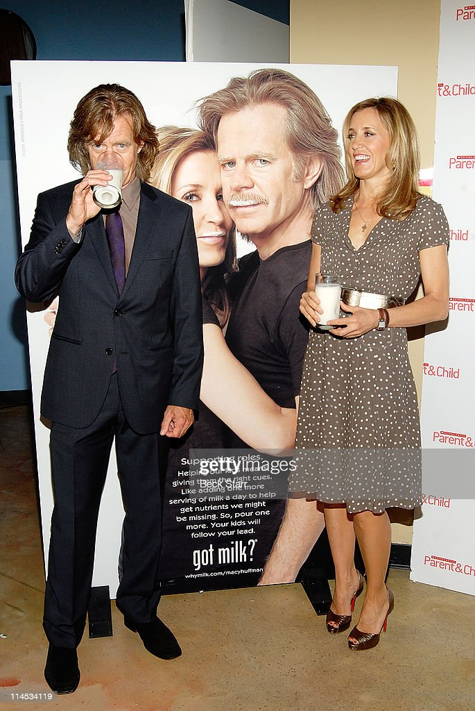 Actor William H Macy and actress Felicity Huffman unveil 'Got Milk' ad and announce Scholastic Parent Child Magazine 'Family Of The Year' at Zimmer...
