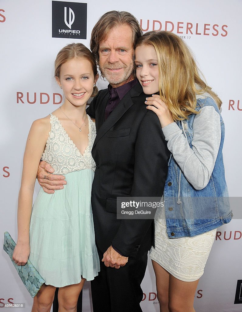 Actor William H Macy and daughter's Georgia Grace Macy and Sophia Grace Macy arrive at the Los Angeles VIP Screening of 'Rudderless' at the Vista...