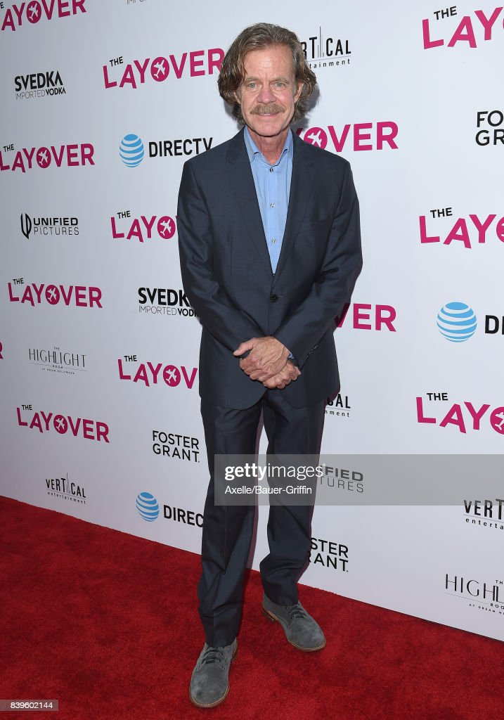 Actor William H. Macy arrives at the Los Angeles Premiere of 'The Layover' at ArcLight Hollywood on August 23, 2017 in Hollywood, California.
