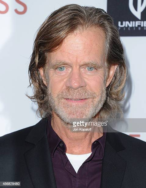 Actor William H Macy arrives at the Los Angeles VIP Screening 'Rudderless' at the Vista Theatre on October 7 2014 in Los Angeles California