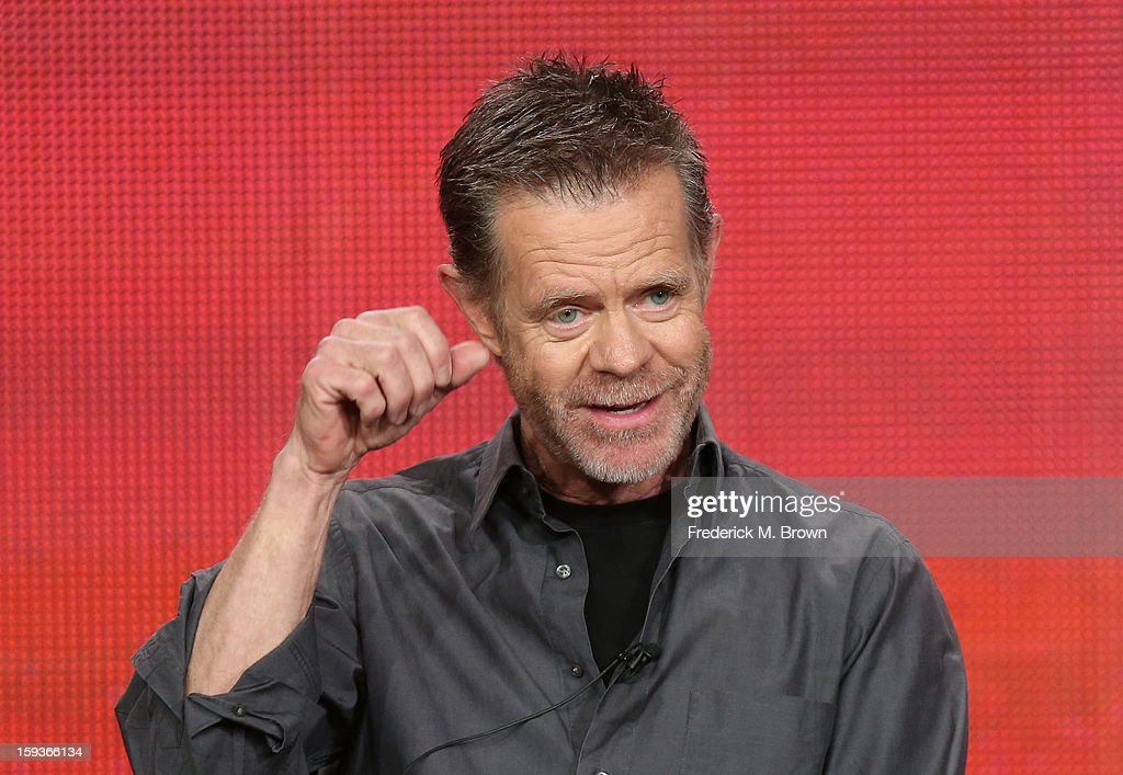 Actor <a gi-track='captionPersonalityLinkClicked' href=/galleries/search?phrase=William+H.+Macy&family=editorial&specificpeople=202170 ng-click='$event.stopPropagation()'>William H. Macy</a> of 'Shameless' speaks onstage during the Showtime portion of the 2013 Winter TCA Tour at Langham Hotel on January 12, 2013 in Pasadena, California.