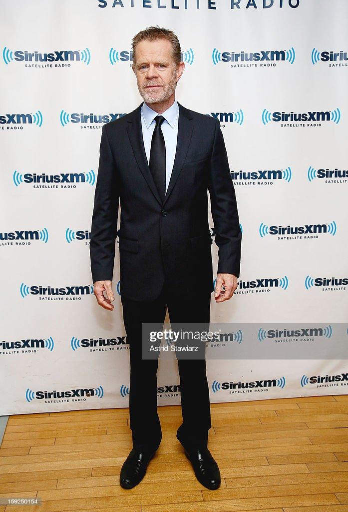 Actor William H. Macy visits SiriusXM studios on January 10, 2013 in New York City.