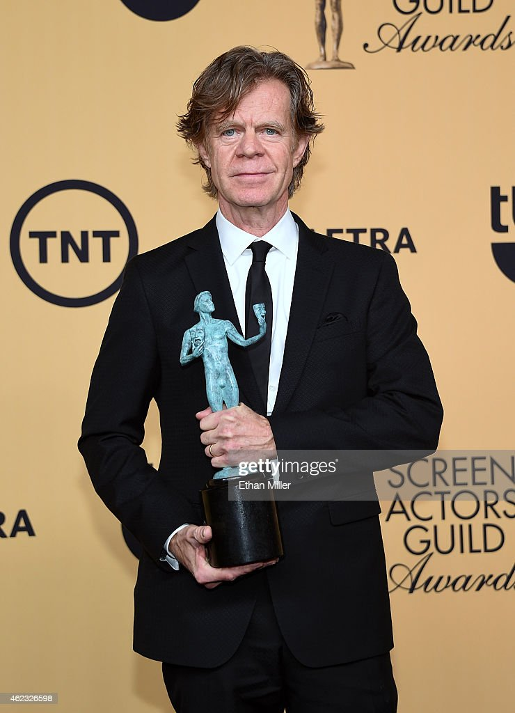 Actor William H Macy winner of Outstanding Performance by a Male Actor in a Comedy Series for 'Shameless' poses in the press room at the 21st Annual...