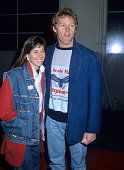 Actor William Katt and wife Deborah attend 'The Morning After' Culver City Premiere on December 18 1986 at the Cary Grant Theatre MGM Studios in...