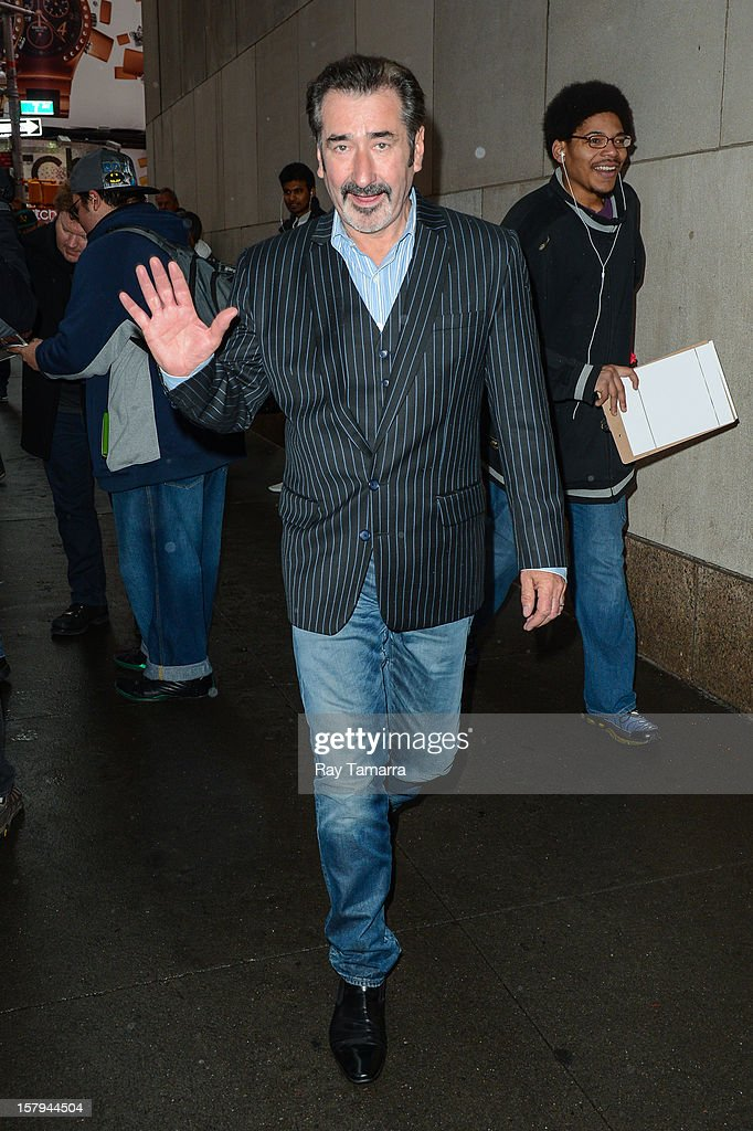 Actor William Kircher leaves the 'Big Morning Buzz' taping at the VH1 Studios on December 7, 2012 in New York City.