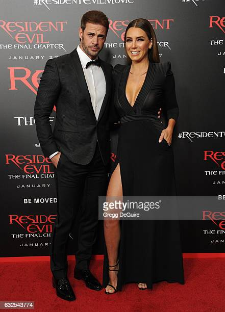 Actor William Levy and Elizabeth Gutierrez arrive at the premiere of Sony Pictures Releasing's 'Resident Evil The Final Chapter' at Regal LA Live A...