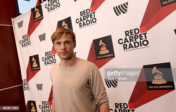 Actor William Moseley poses backstage at The GRAMMYs Westwood One Radio Remotes during The 57th Annual GRAMMY Awards at Staples Center on February 5...